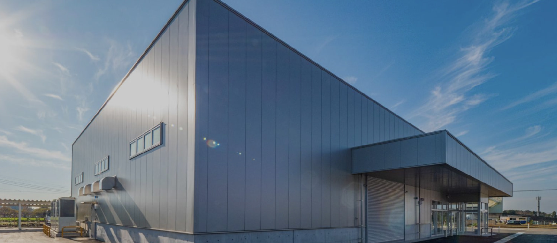 yess建築は日本で唯一のシステム建築専用の                             工場で一貫生産をしています